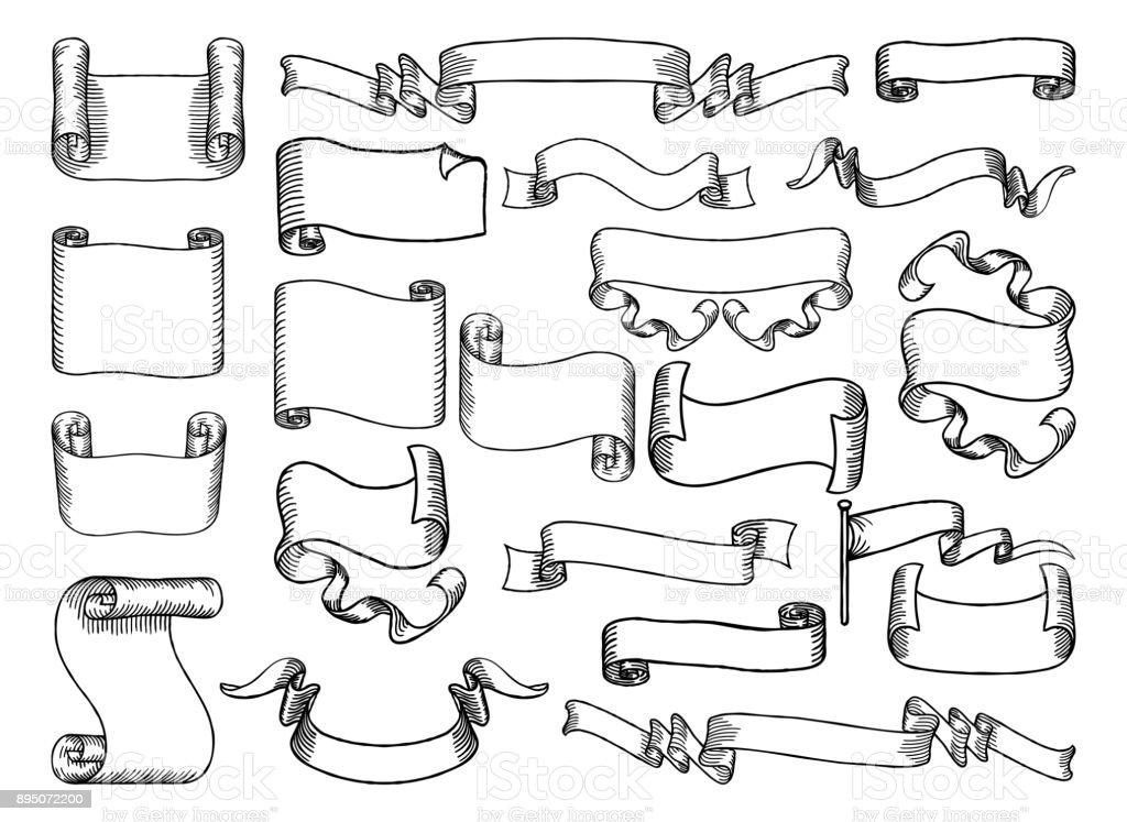 巻物やバナー セット イギリスのベクターアート素材や画像を多数ご用意