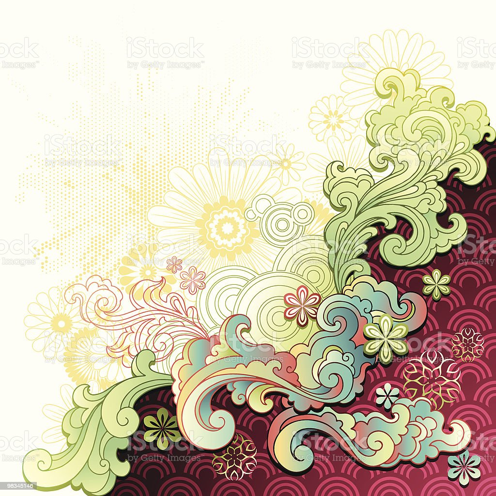 Scrolls and Flowers royalty-free scrolls and flowers stock vector art & more images of art and craft