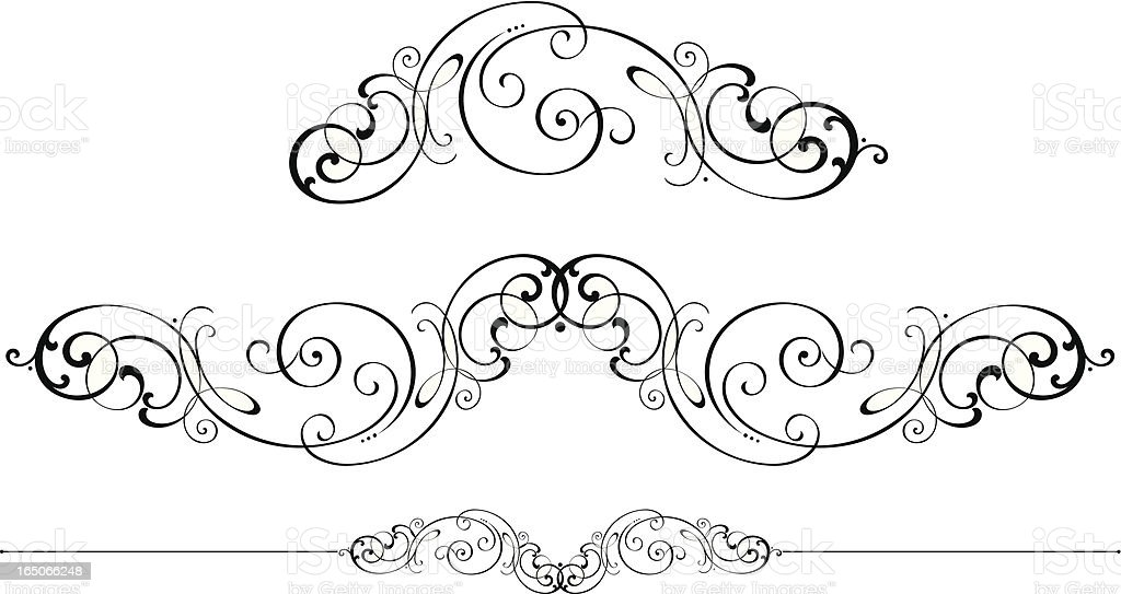 Scrolls and Ruleline royalty-free stock vector art