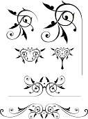 A set of elegante scrolls for different unique projects. These are vector illustrations.Saved in formats , AI ver 12, EPS ver 8, Corel Draw ver 8, PDF, and High Res Jpeg