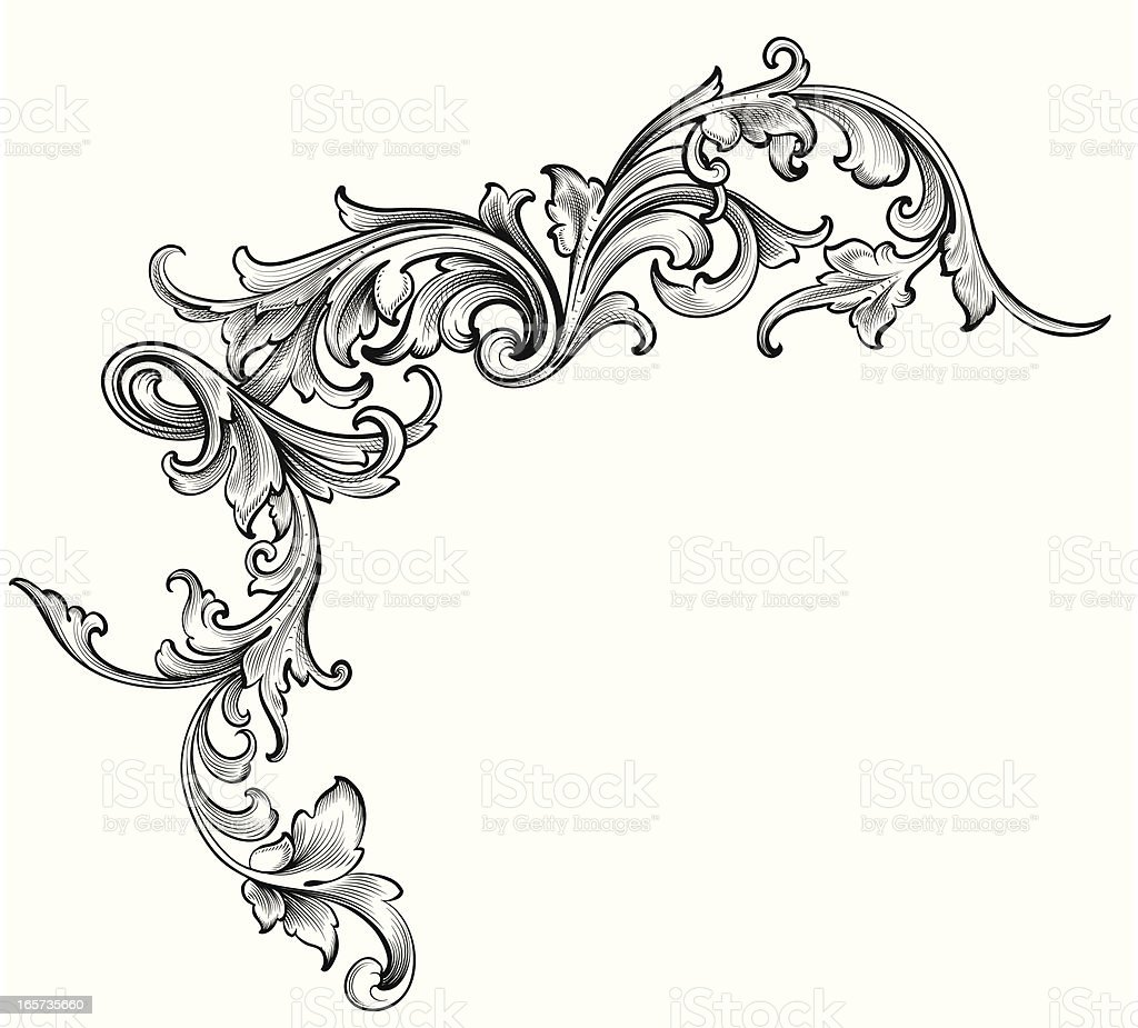 Scrollwork Engraving Design Stock Vector Art Amp More Images