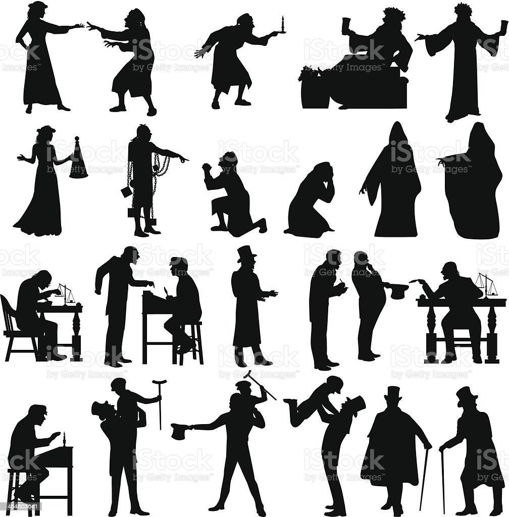 Scrooge vector art illustration