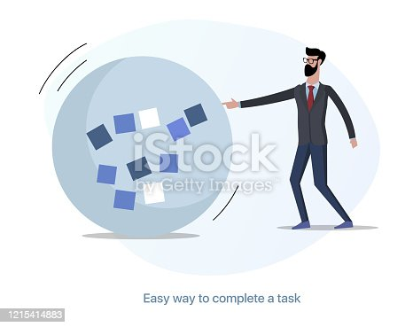 istock Scrum master and tasks. Easy way to solve the problem 1215414883