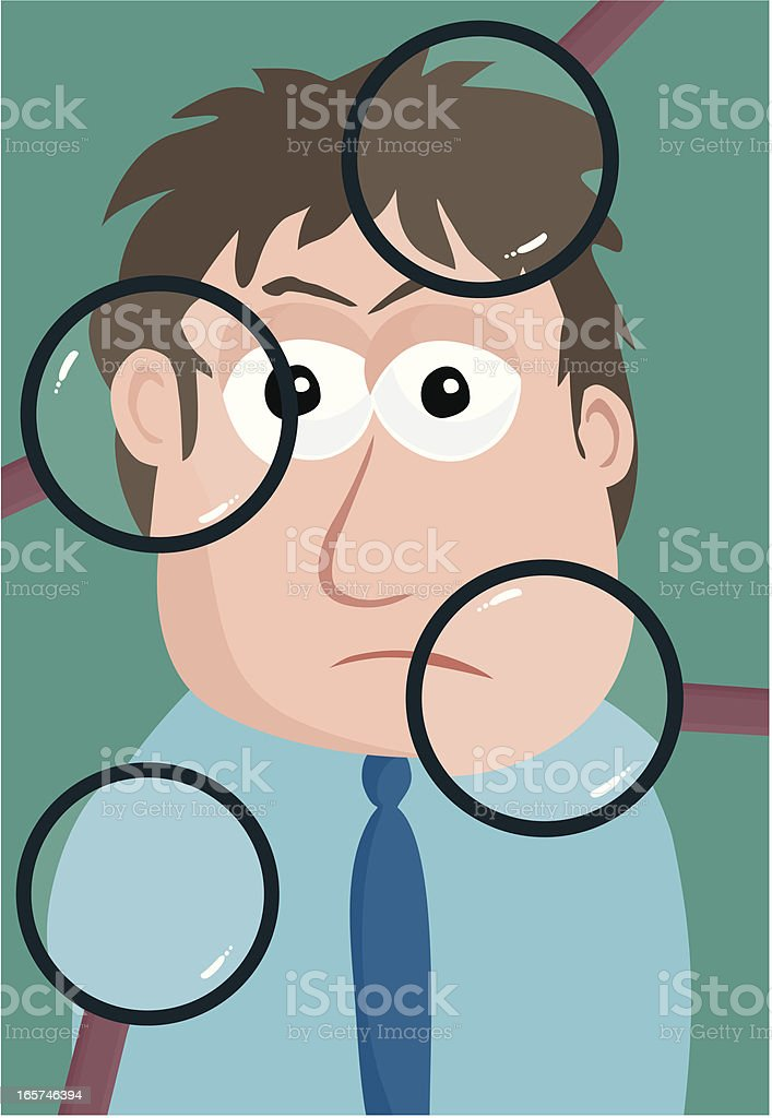 Scrutinized royalty-free scrutinized stock vector art & more images of abstract