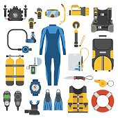 Scuba Diving and Snorkeling Gear Set