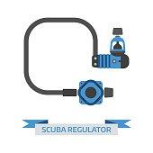 Scuba Diving Regulator Vector Icon