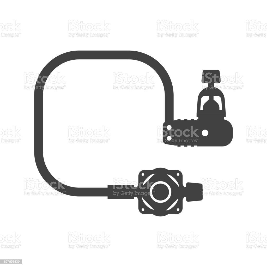 Scuba Diving Regulator Vector Icon vector art illustration