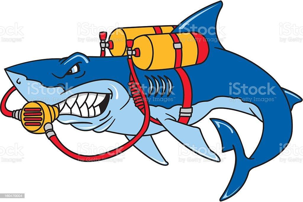 1c497b4df5366 Scuba Tauchen Shark Lizenzfreies scuba tauchen shark stock vektor art und  mehr bilder von clipart
