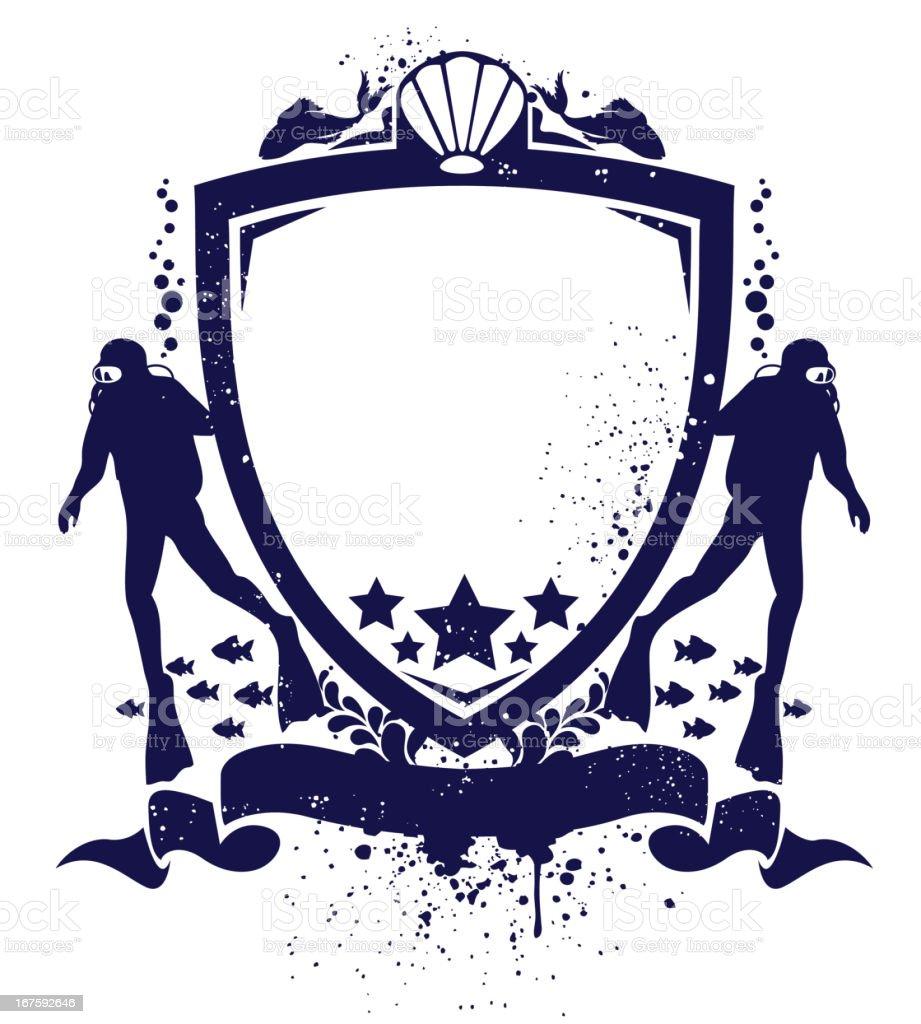 Scuba shield royalty-free stock vector art