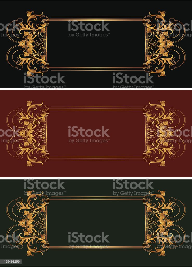 Sculpted Arabesque Banners royalty-free stock vector art