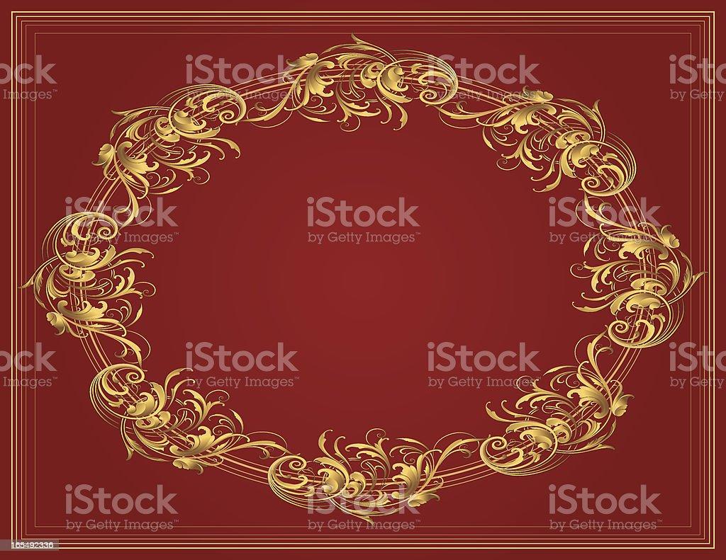 Sculpted Oval Arabesque royalty-free stock vector art
