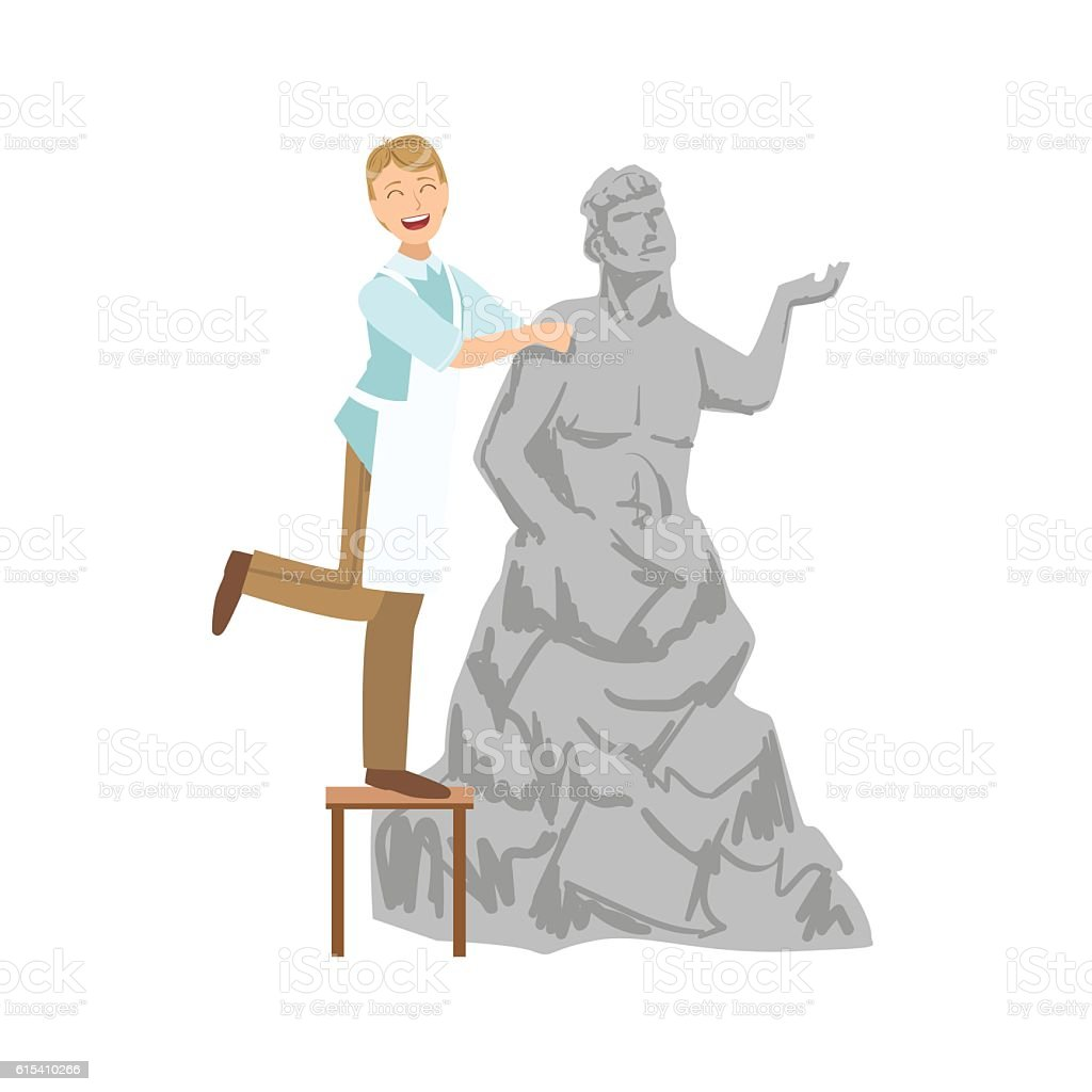 Sculptor, Creative Person Illustration vector art illustration