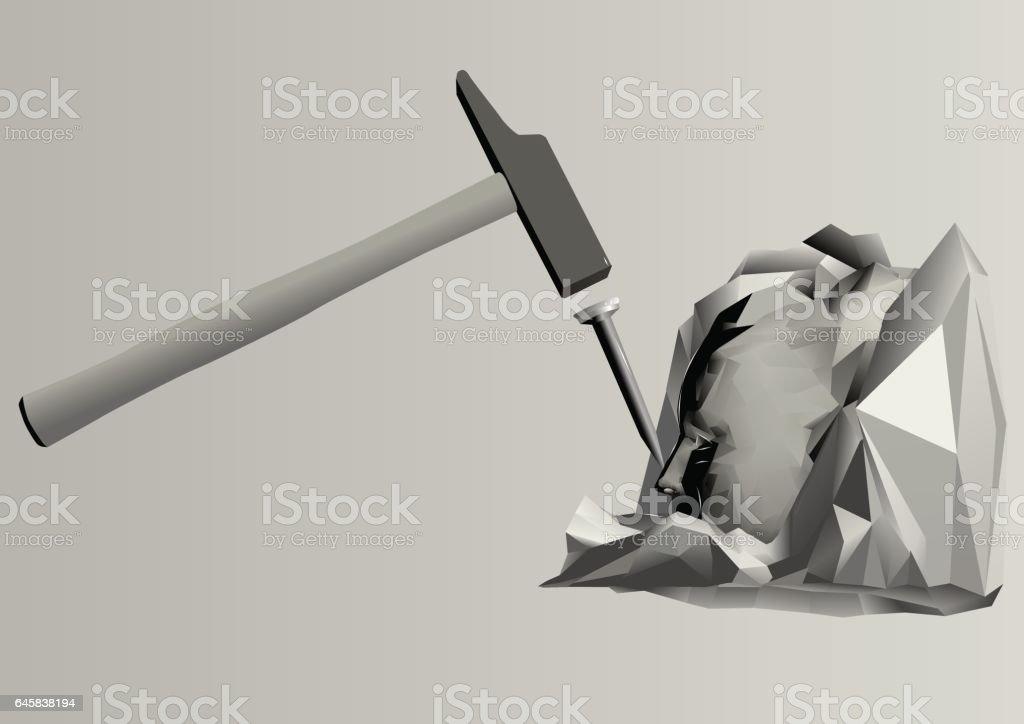 sculpture vector art illustration