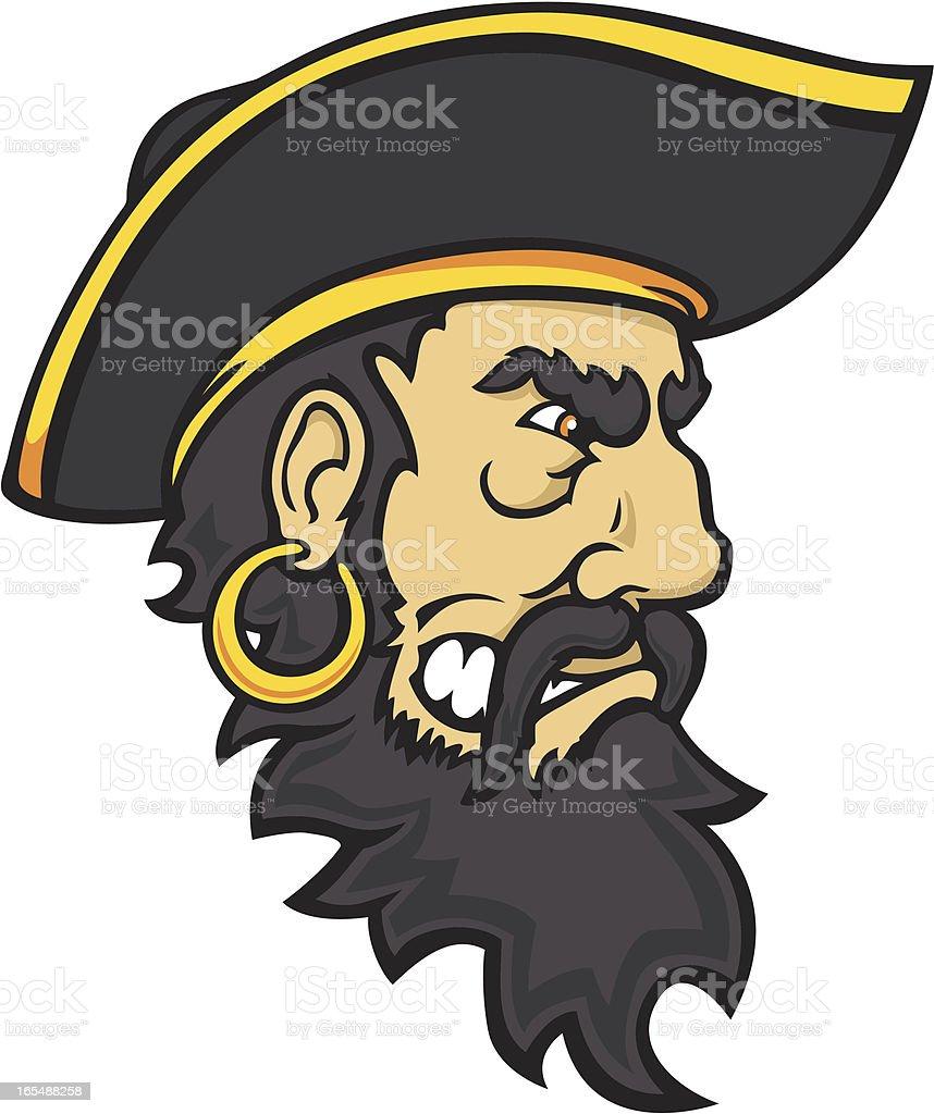 Scurvy Pirate Mascot vector art illustration