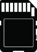sd card vector icon