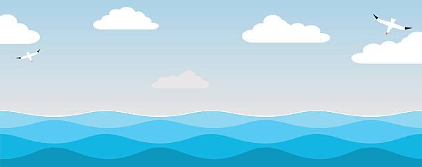 海と鳥の空。 - 海点のイラスト素材/クリップアート素材/マンガ素材/アイコン素材