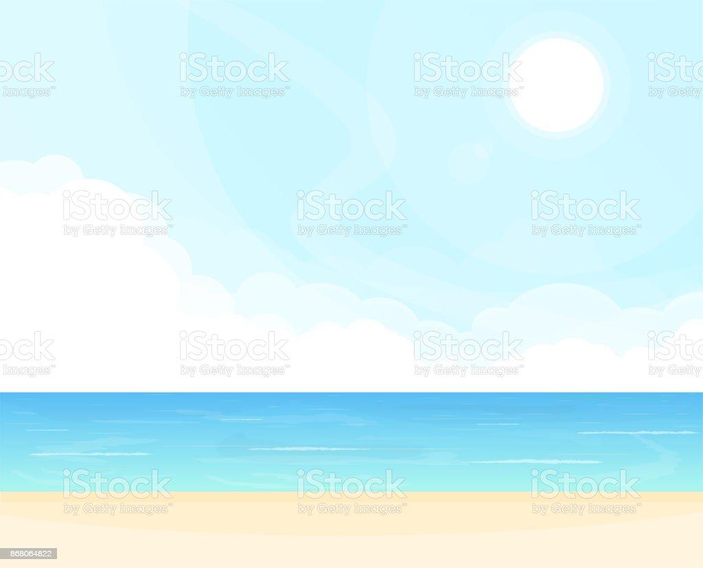 Meer und Wolken Hintergrund – Vektorgrafik