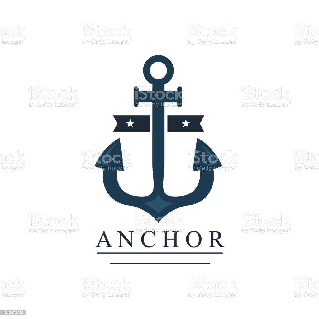 Sea and nautical decoration badge vector illustration. vector art illustration