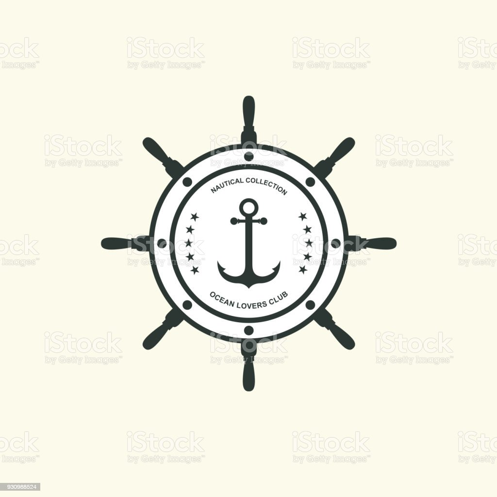 Sea And Nautical Typography Badge And Design Element