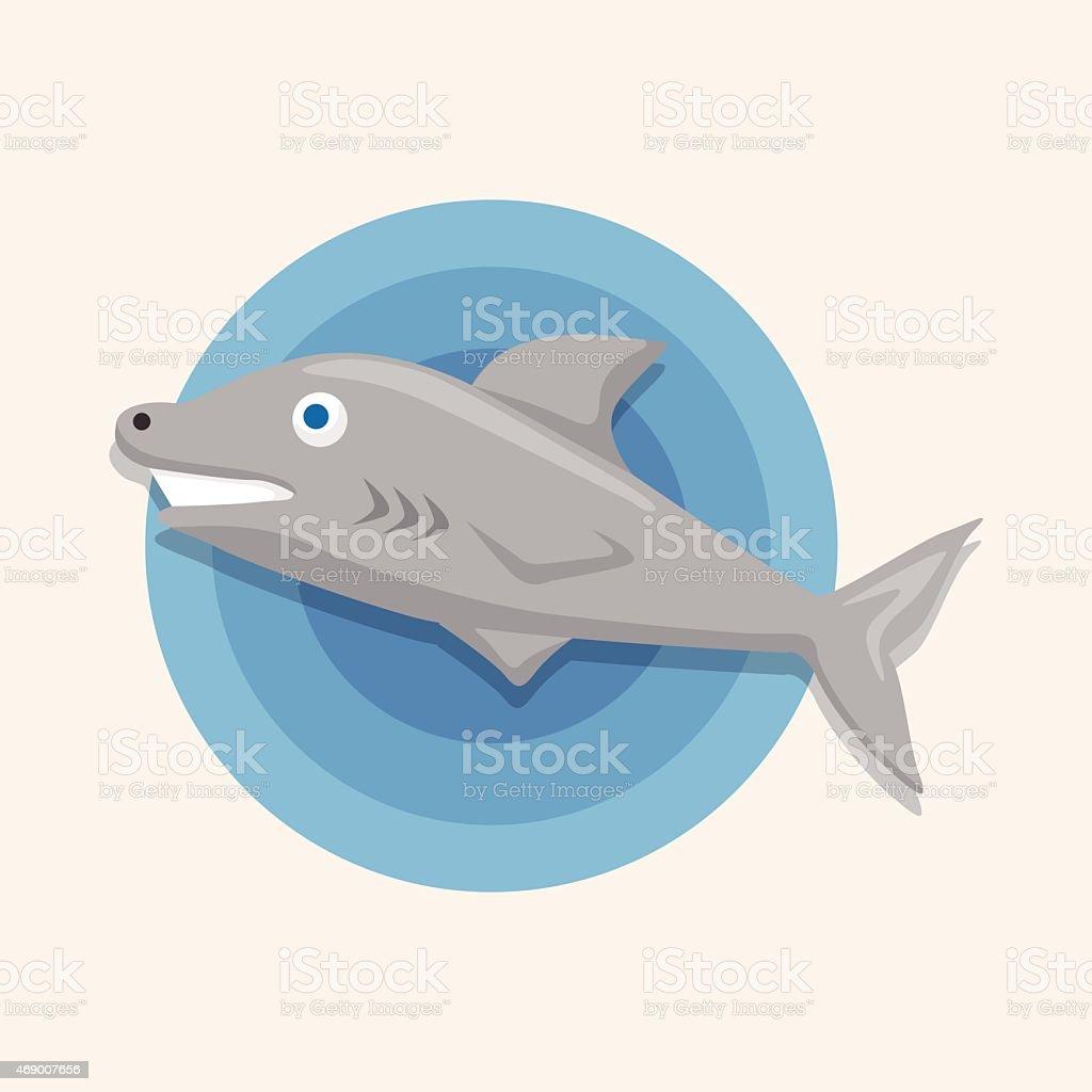 Meer Tiere Hai Comicstilelemente Stock Vektor Art und mehr Bilder ...