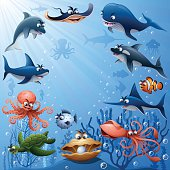 Sea Animals Family
