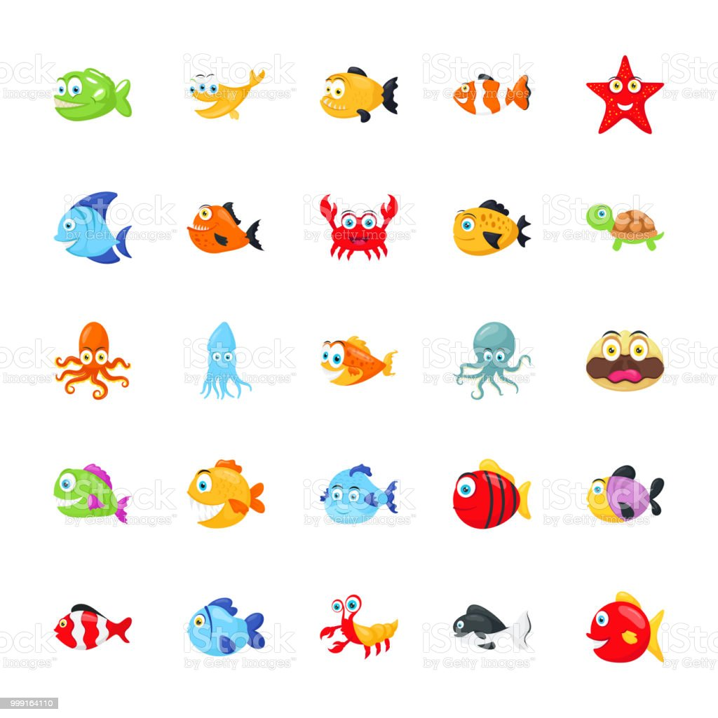 Sea Animals Pack vector art illustration