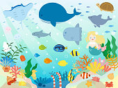 It is an illustration of a Sea animals.