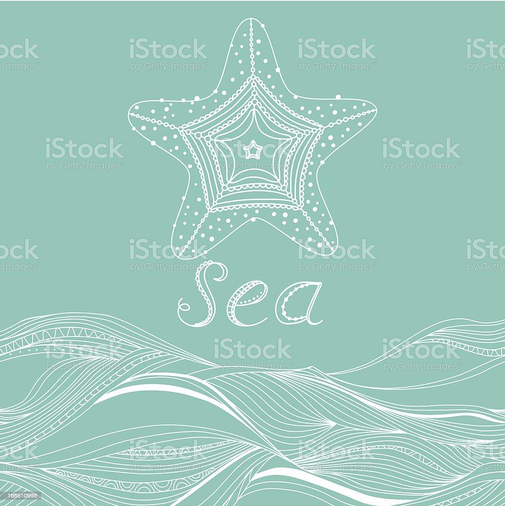 Sea banner royalty-free stock vector art