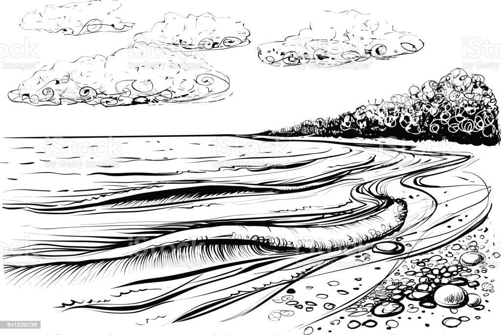 how to draw stormy waves