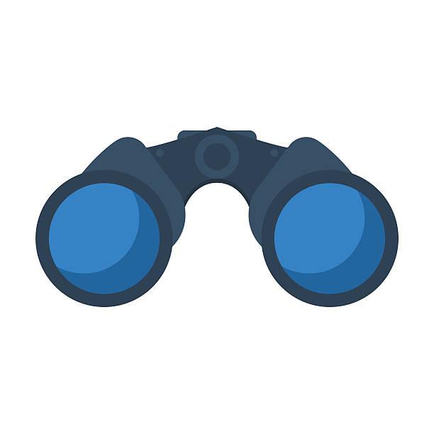 Sea Binoculars Vector Icon vector art illustration
