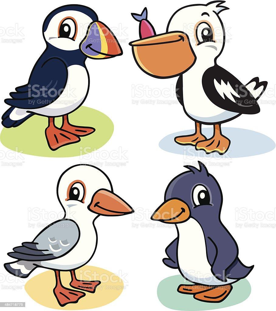 sea birds stock vector art 484718775 istock