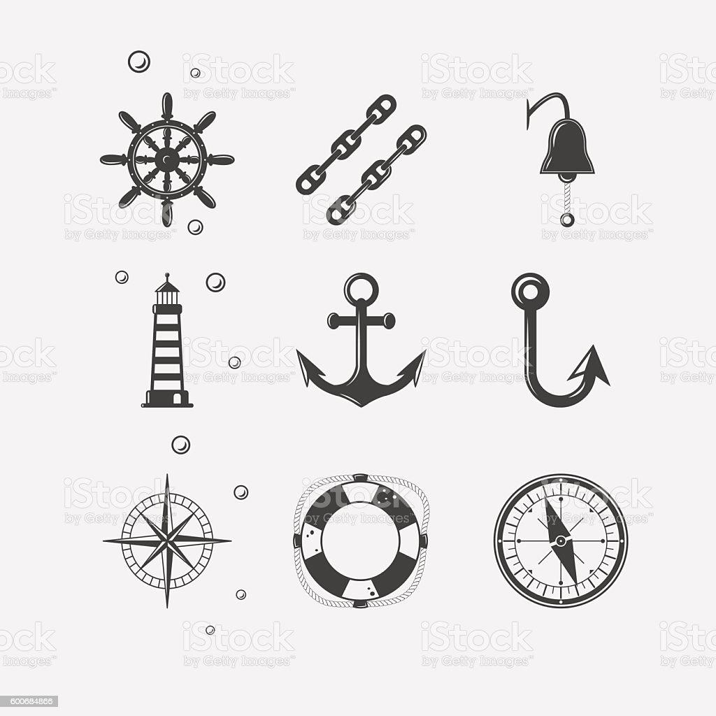 Sea Black Icon – Vektorgrafik