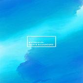sea blue watercolor paint background