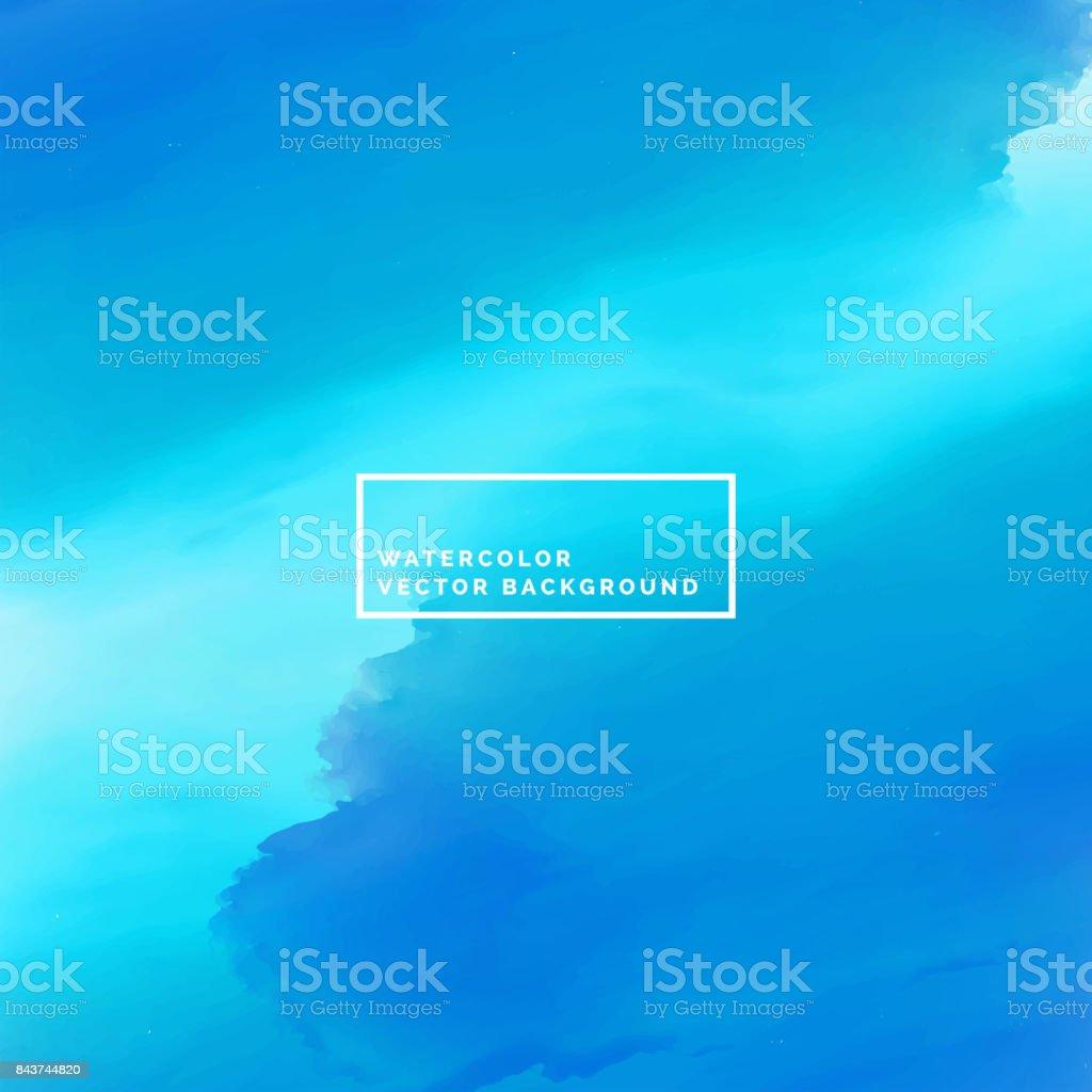 Fondo de pintura acuarela de mar azul - ilustración de arte vectorial