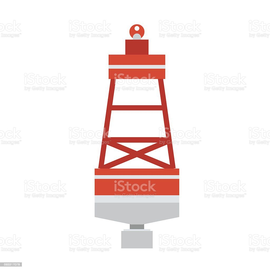 Sea Buoy Float Icon vector art illustration