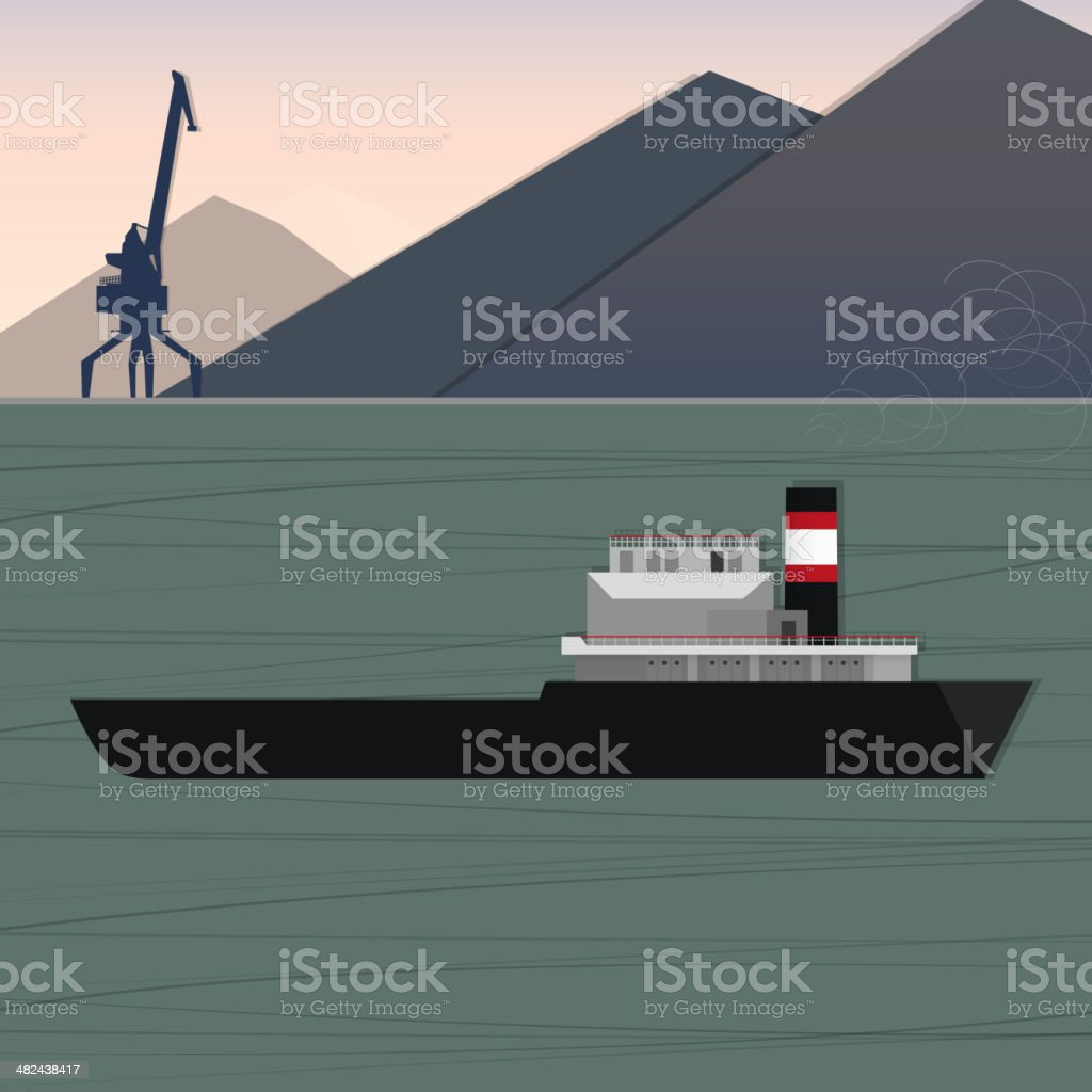 sea cargo vessel royalty-free sea cargo vessel stock vector art & more images of abstract