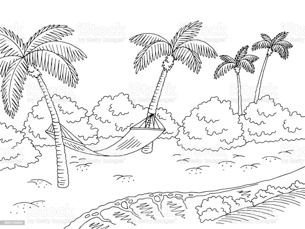 palme zum ausmalen  malvorlagen