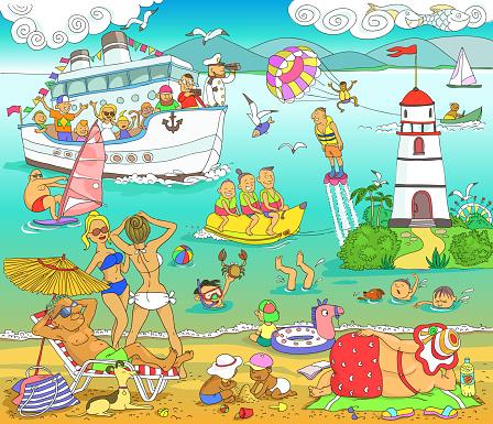 Vetores de Costa Do Mar e mais imagens de Adolescente