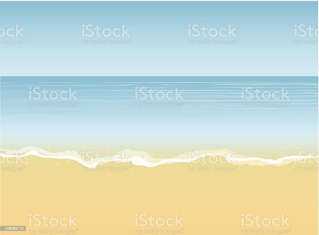 Sea coastline vector art illustration