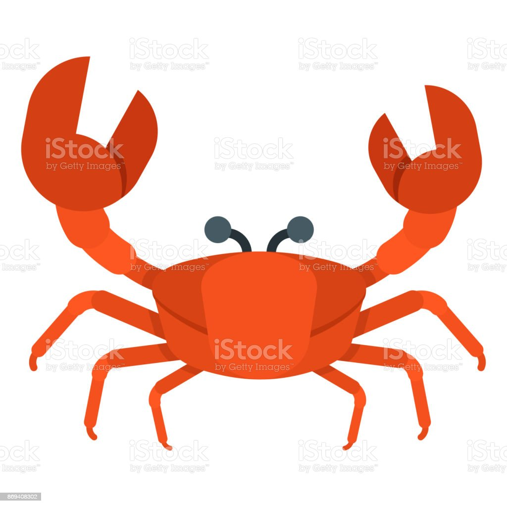 sea crab icon vector art illustration