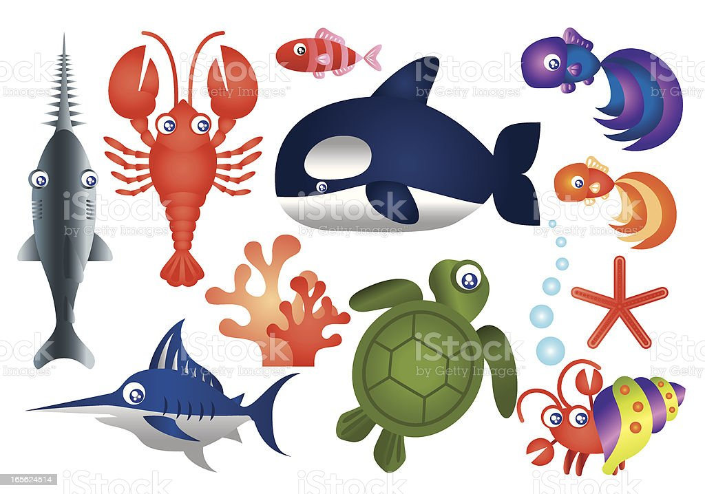 Sea Creature Collection royalty-free stock vector art