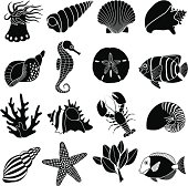 sea creatures icons