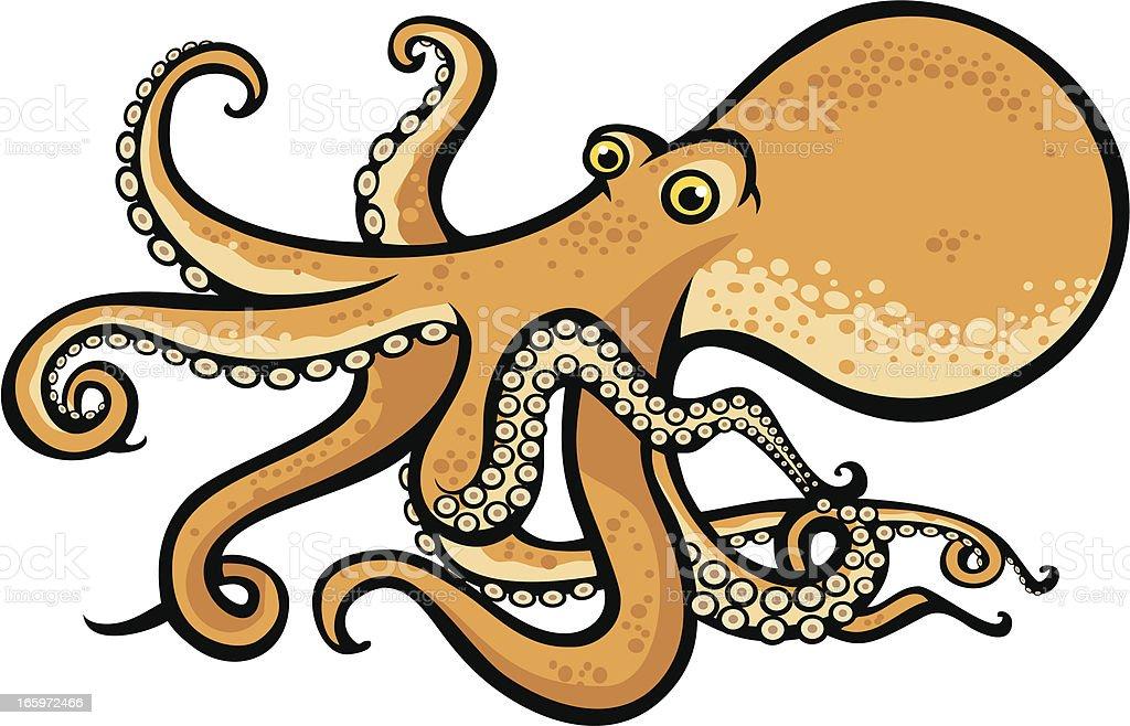Sea creatures, octopus royalty-free stock vector art
