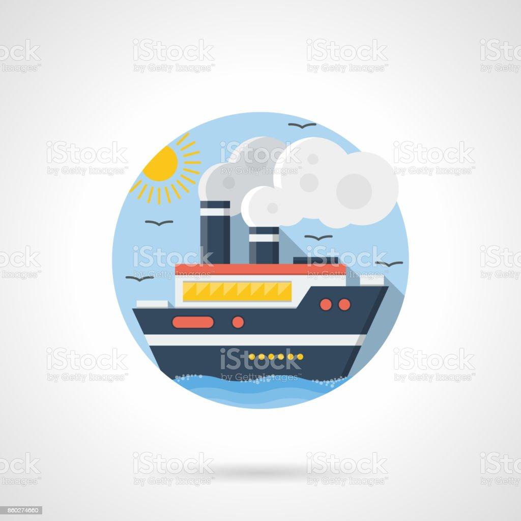 Sea cruiser color detailed vector icon vector art illustration