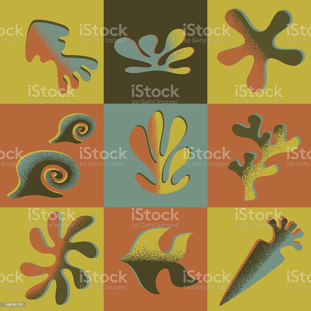 Sea design elements royalty-free stock vector art