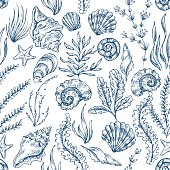 Sea Elements Seamless Pattern