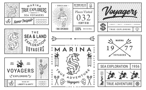 sea exploration vector illustrations - adults only stock illustrations