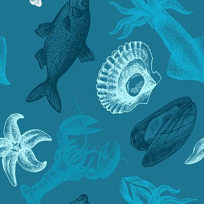 sea food illustration