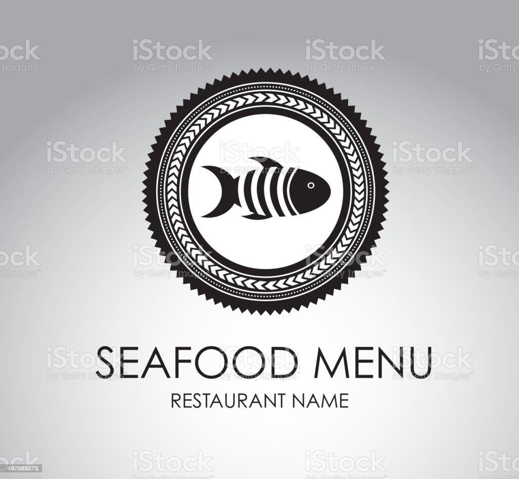 sea food menu vector art illustration