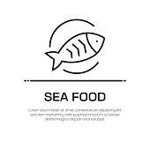 Sea Food Vector Line Icon - Simple Thin Line Icon, Premium Quality Design Element